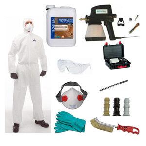 Wagner Kit Complet Traitement du Bois Prêt à l'Emploi Avec 5L Insecticide Anti Termites Efficacité Garantie