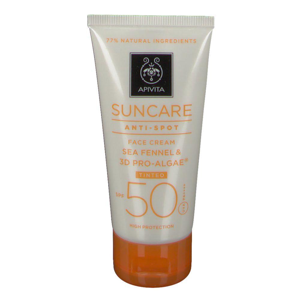 Apivita Sun Crème Solaire Visage Teintée Anti-taches SPF50 ml crème solaire