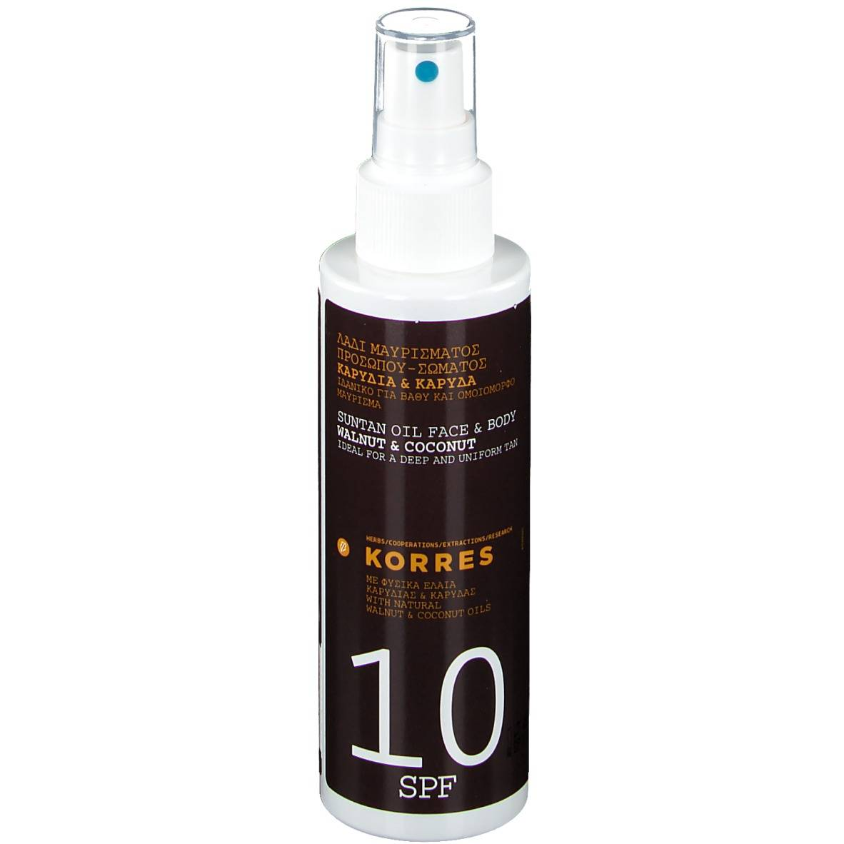 Greendock KORRES® Huile de bronzage noisette & noix de coco SPF10 ml huile