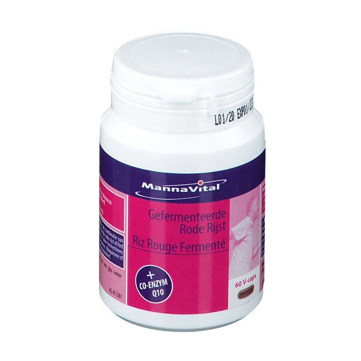 MannaVital Riz Rouge Fermenté + Q10 pc(s) capsule(s)