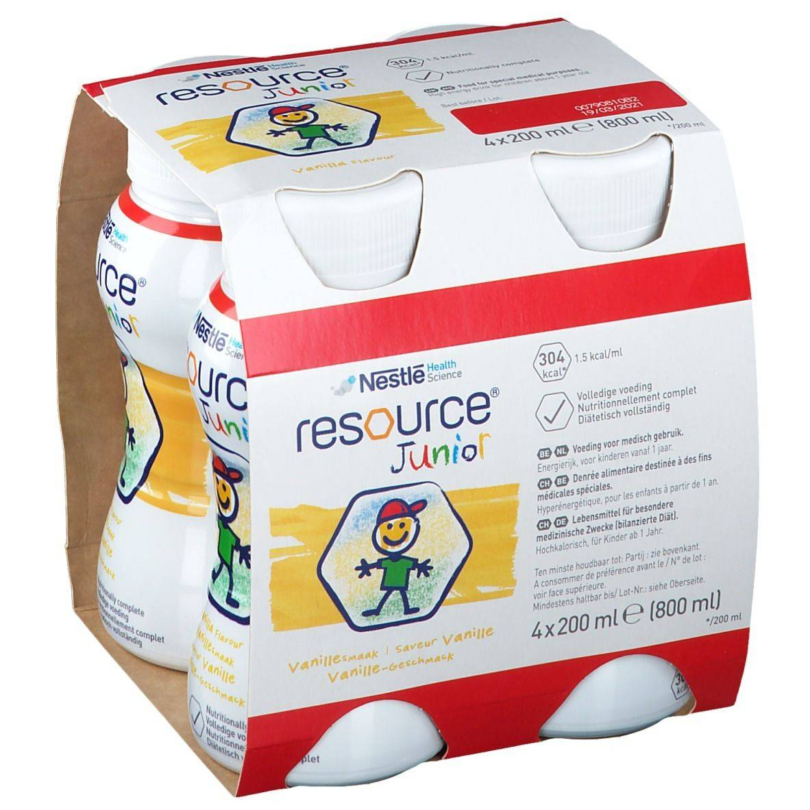 Resource® Resource Junior Vanille Cup ml solution(s) buvable(s)