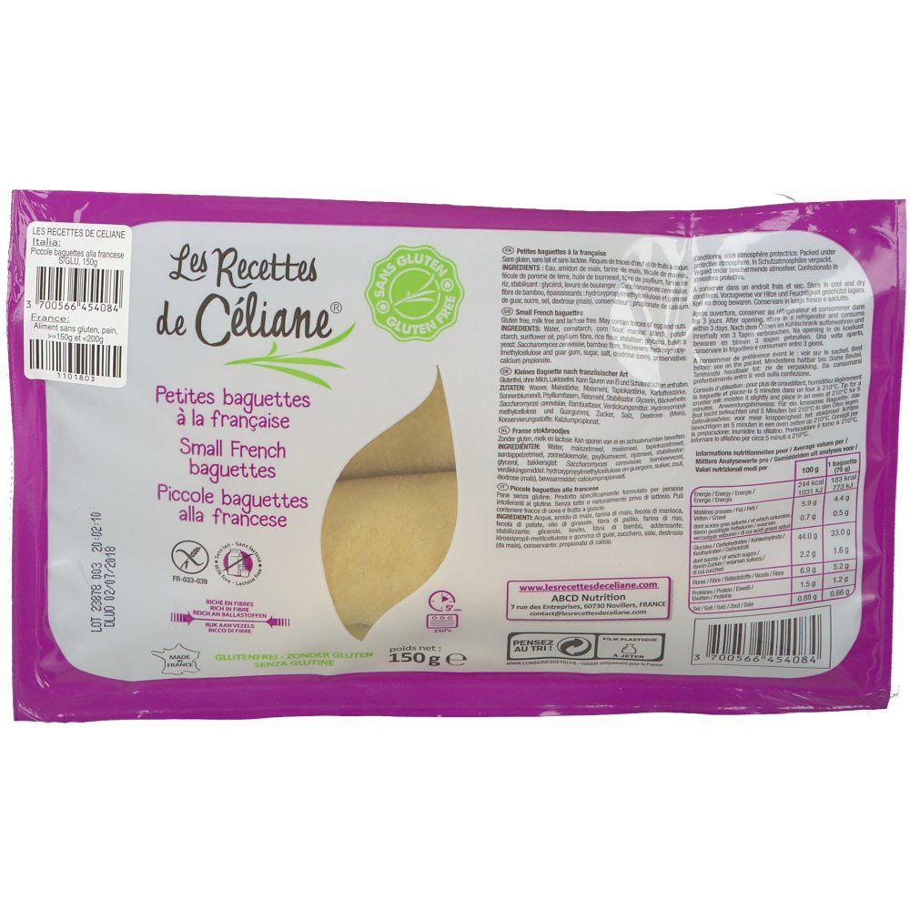 Les Recettes de Céliane® Céliane Baguettes Françaises g