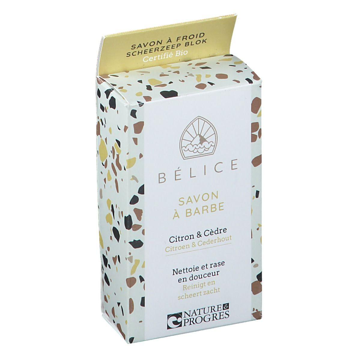 Bélice Savon à Barbe Savon à froid Citron & Cèdre Bio g savon