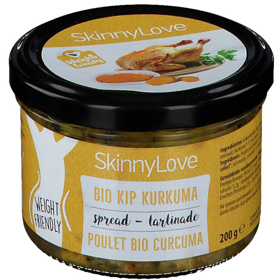 Skinny Love SkinnyLove Tartinade Poulet Curcuma Bio g restant(s)