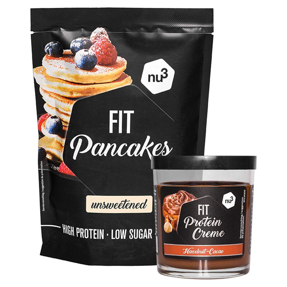 nu3 Fit Pancakes + Fit Protein Creme noisette-chocolat pc(s) set(s)