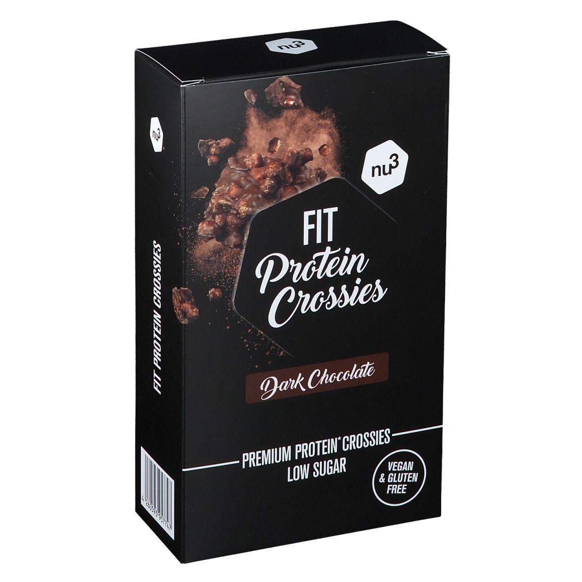 nu3 FIT Protein Crossies Chocolat noir g Barre