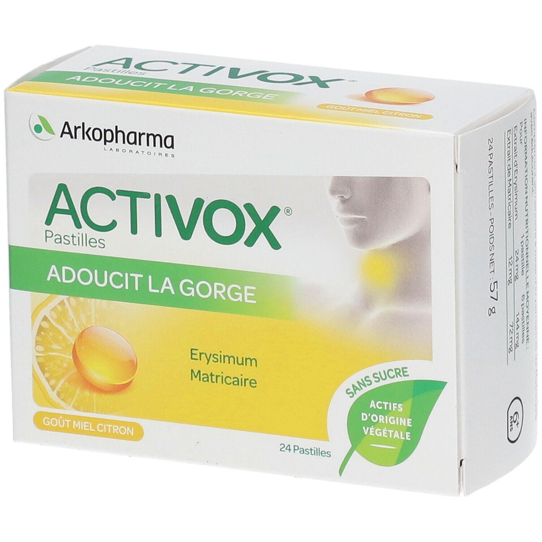 Activox® Activox Pastilles pour la gorge sans sucre au miel pc(s) pastille(s)