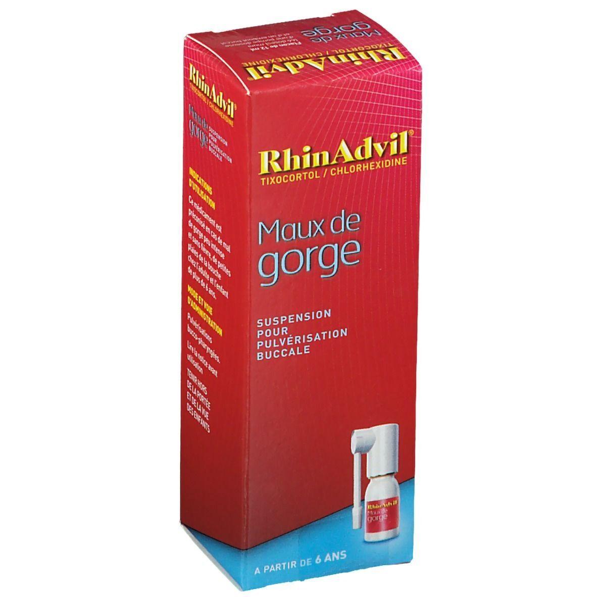 RhinAdvil Pfizer RhinAdvil Maux de Gorge ml spray buccal