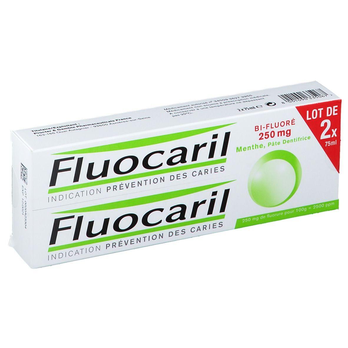 Fluocaril® Fluocaril Bi-Fluoré 250 mg Pâte Dentifrice Menthe ml dentifrice(s)