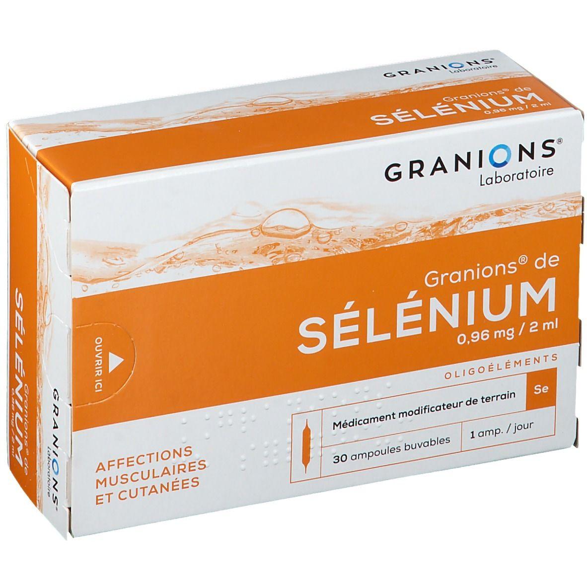 Granions® de Selenium 0,96 mg/2 mL ml suspension(s) buvable(s)