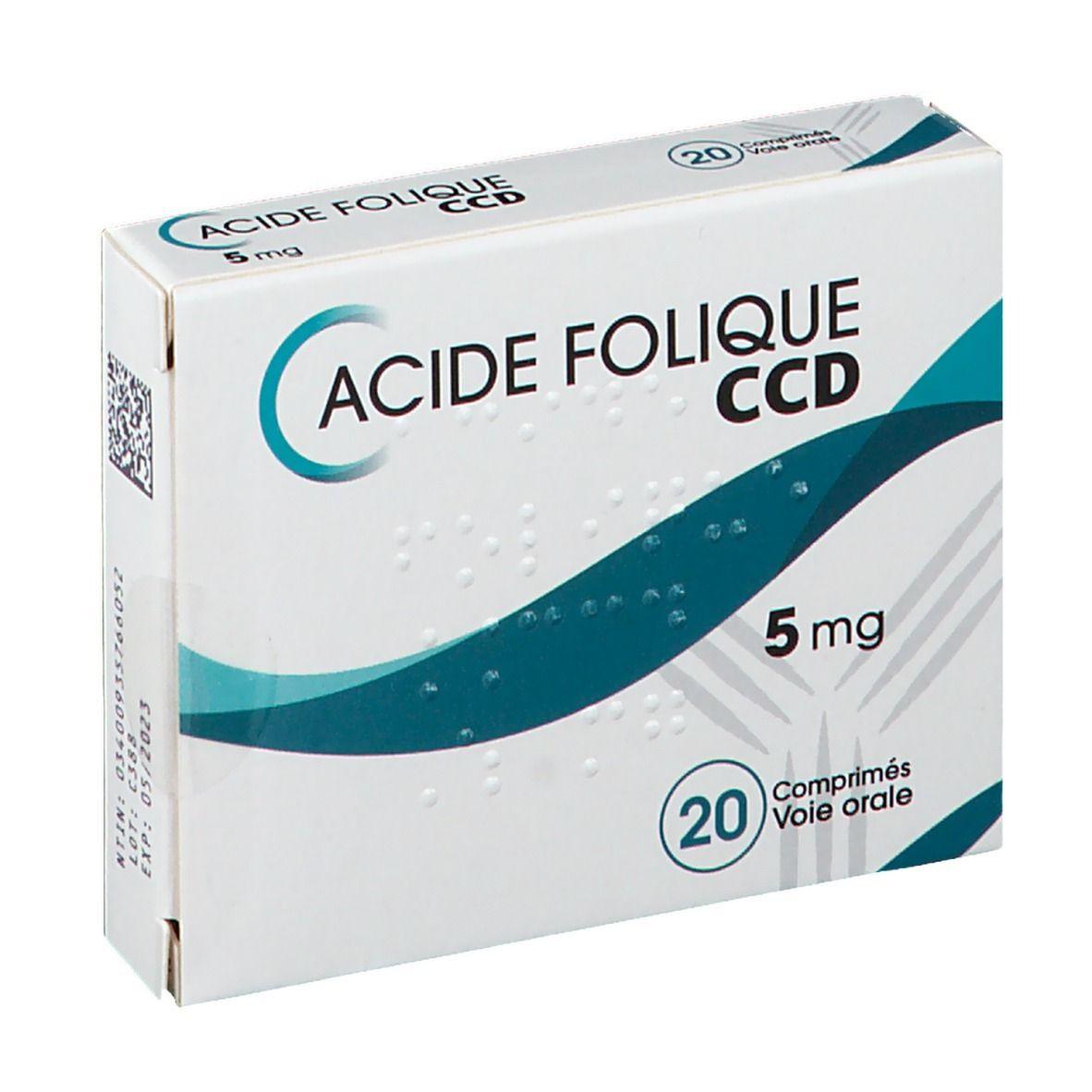 C.c.d. Laboratoire C.C.D. Acide Folique 5 mg pc(s) comprimé(s)