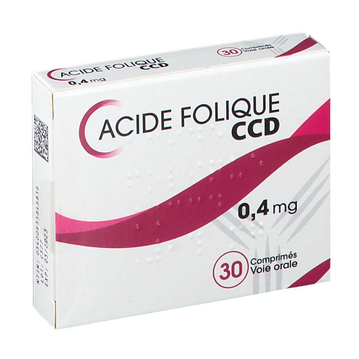 C.c.d. Laboratoire C.C.D. Acide Folique 0,4 mg pc(s) comprimé(s)
