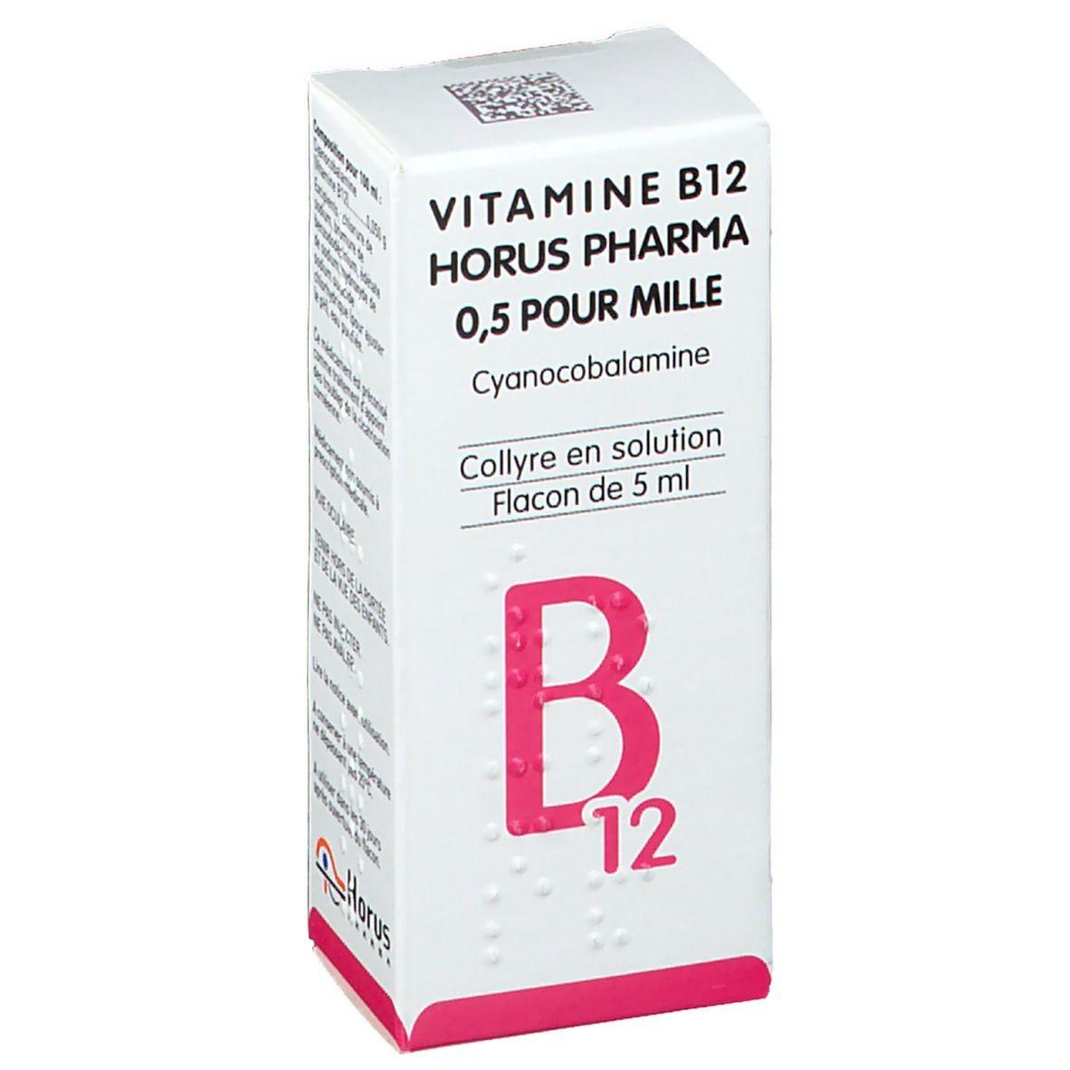 Horus Pharma Vitamine B12 ml gouttes ophtalmiques