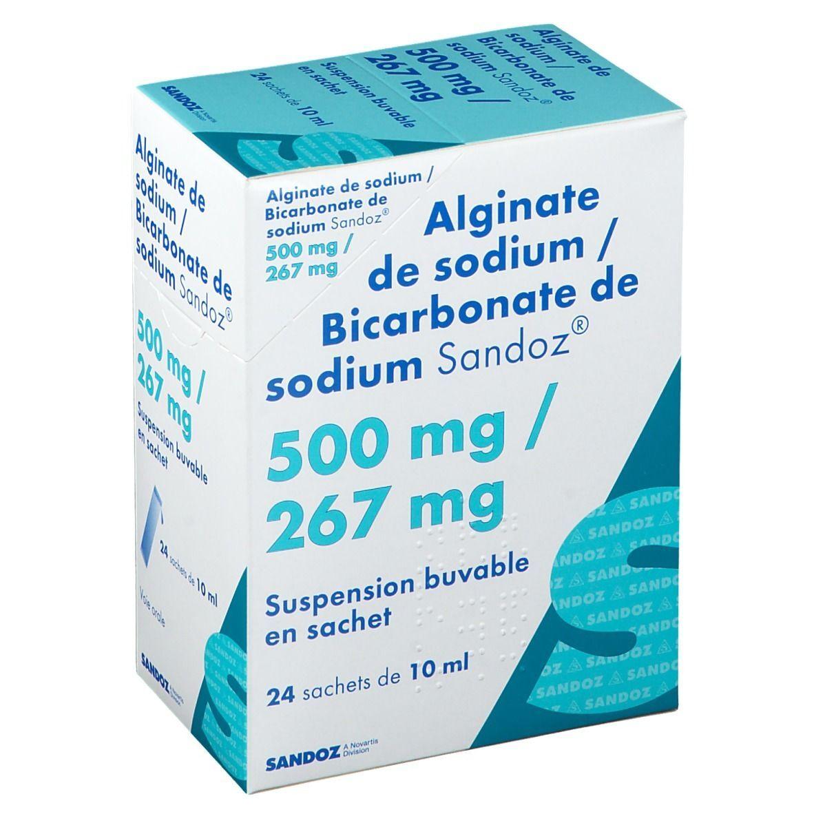Sandoz® Alginate de sodium / Bicarbonate de sodium Sandoz® pc(s) suspension(s) buvable(s)