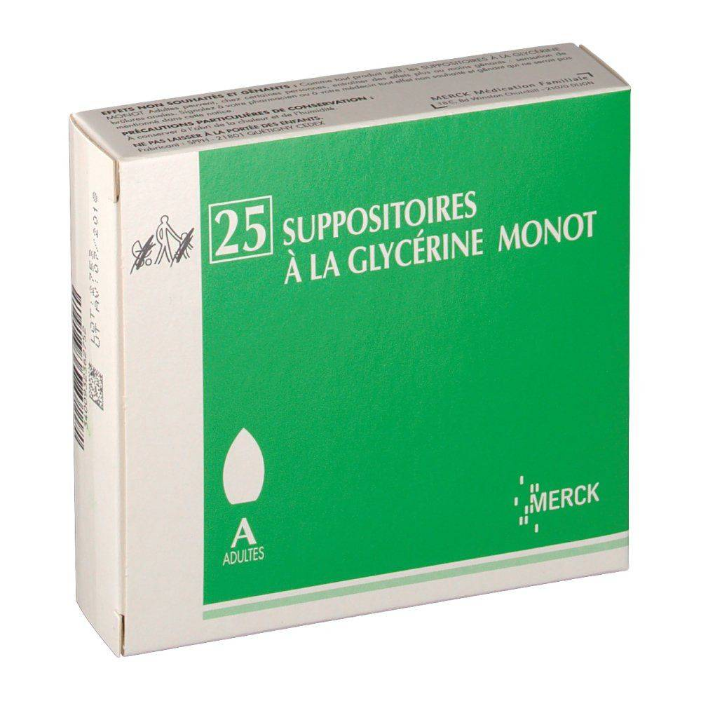 Suppositoires À LA Glycérine Monot Merck Suppositoires à la Glycérine Monot Adultes pc(s) suppositoire(s) pour adultes
