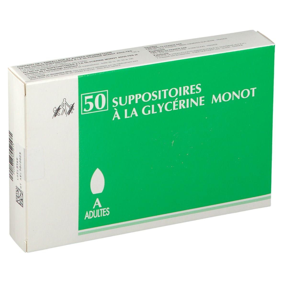 Suppositoires À LA Glycérine Monot Merck Suppositoires à la Glycérine Monot Adultes pc(s) suppositoire(s) pour adultes
