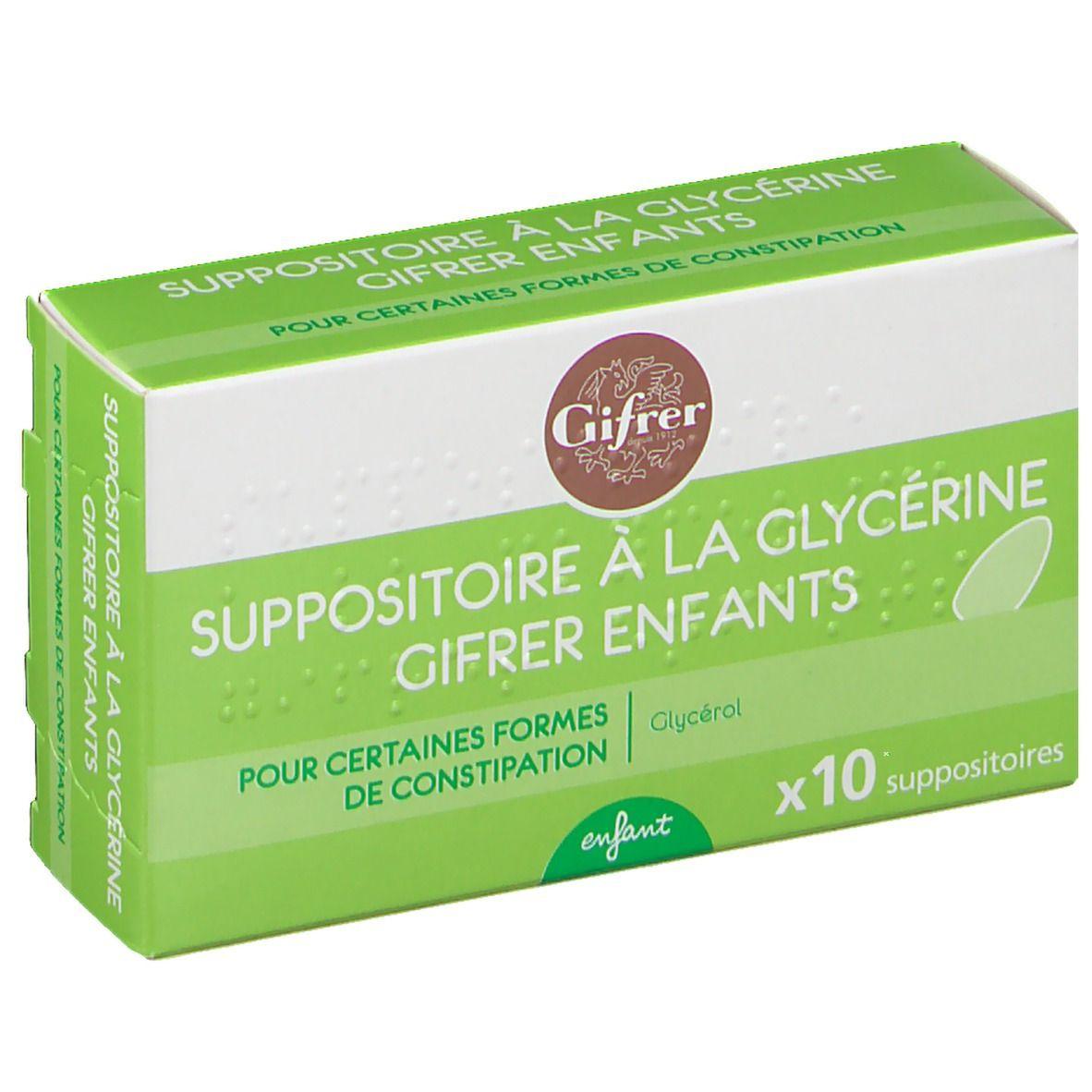 Gifrer Suppositoire à la Glycerine Glycérol - Enfant pc(s) suppositoire(s) pour enfants