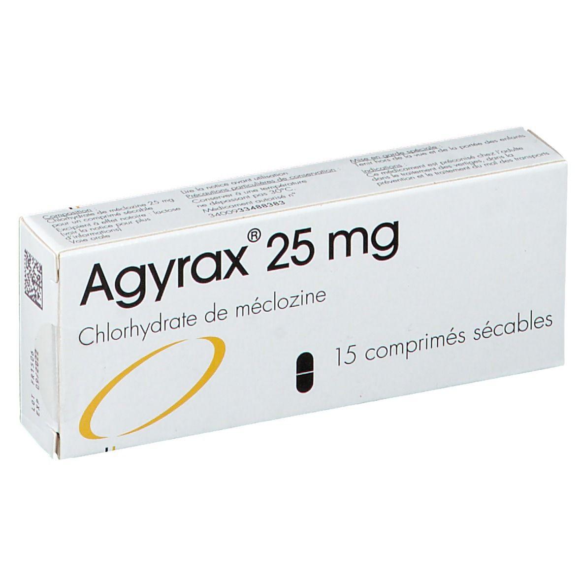 Agyrax® 25 mg pc(s) comprimé(s)