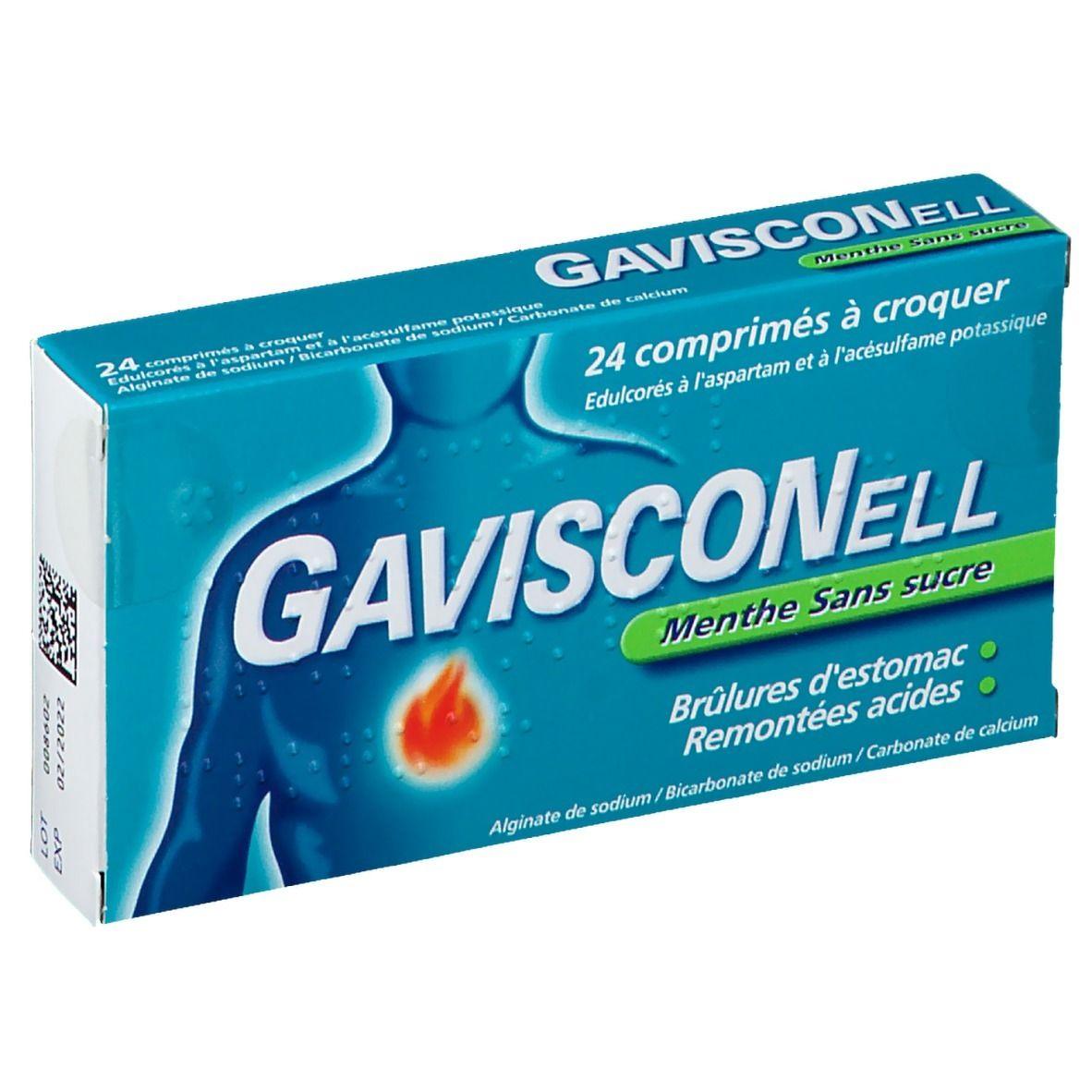 Gavisconell® Menthe sans sucre pc(s) comprimé(s) à croquer