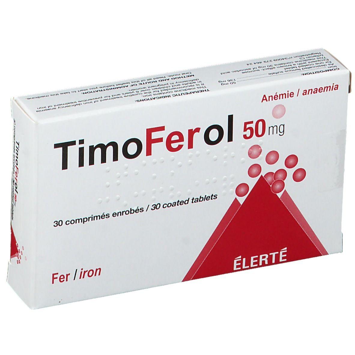 TimoFerol 50 mg pc(s) comprimé(s)