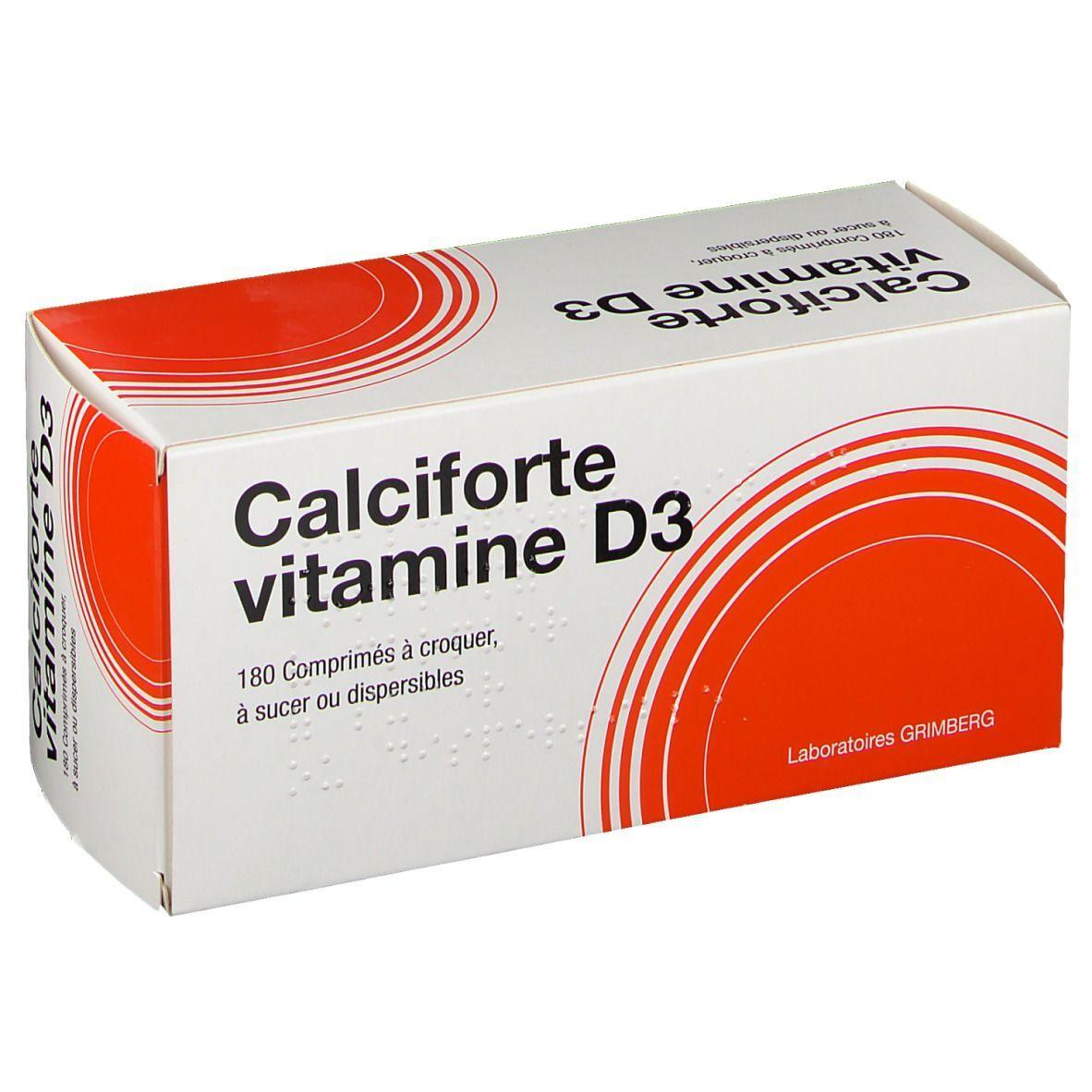 Calciforte Vitamine D3 pc(s) comprimé(s) à croquer
