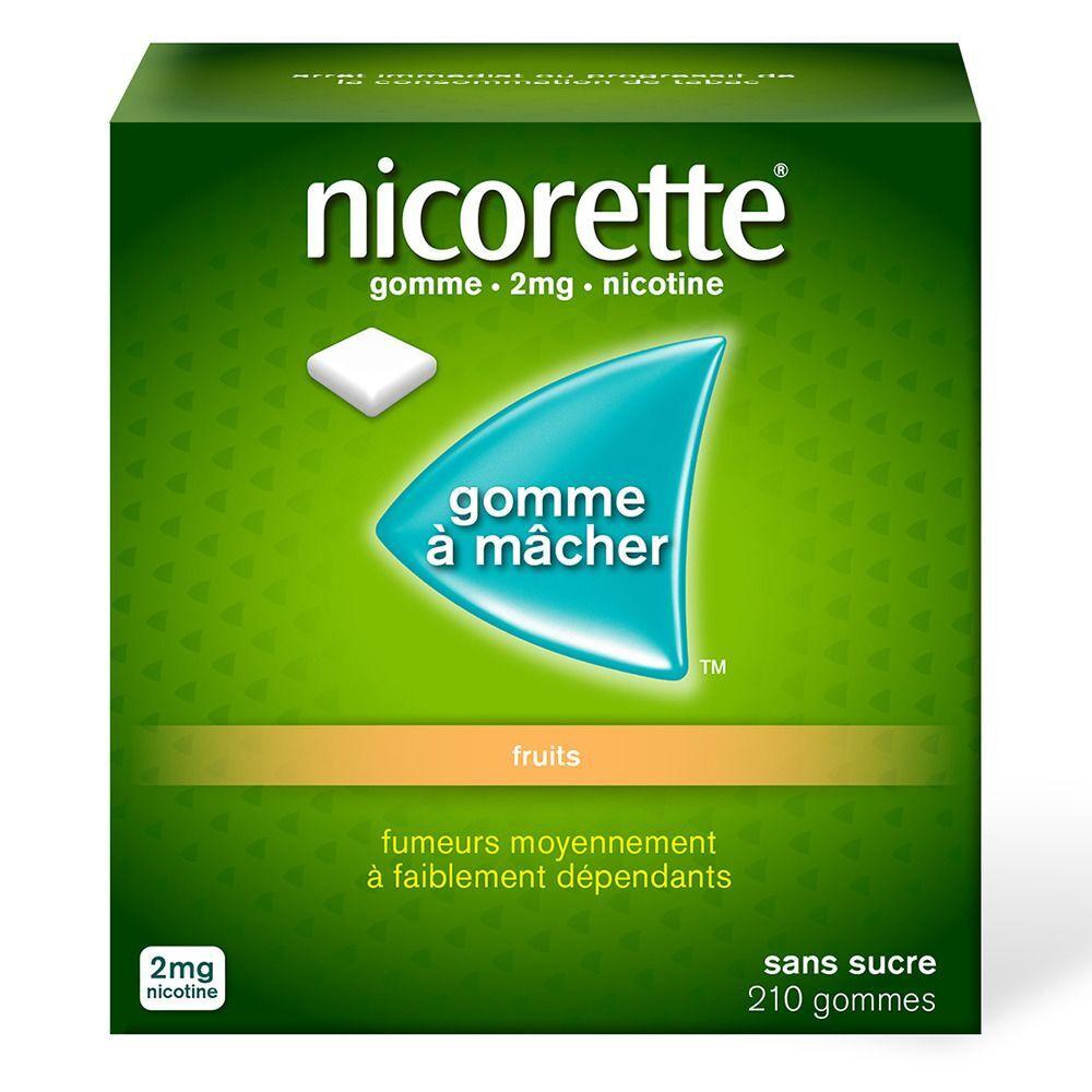 Nicorette® Gomme 2 mg Fruit sans sucre pc(s) chewing-gum(s)