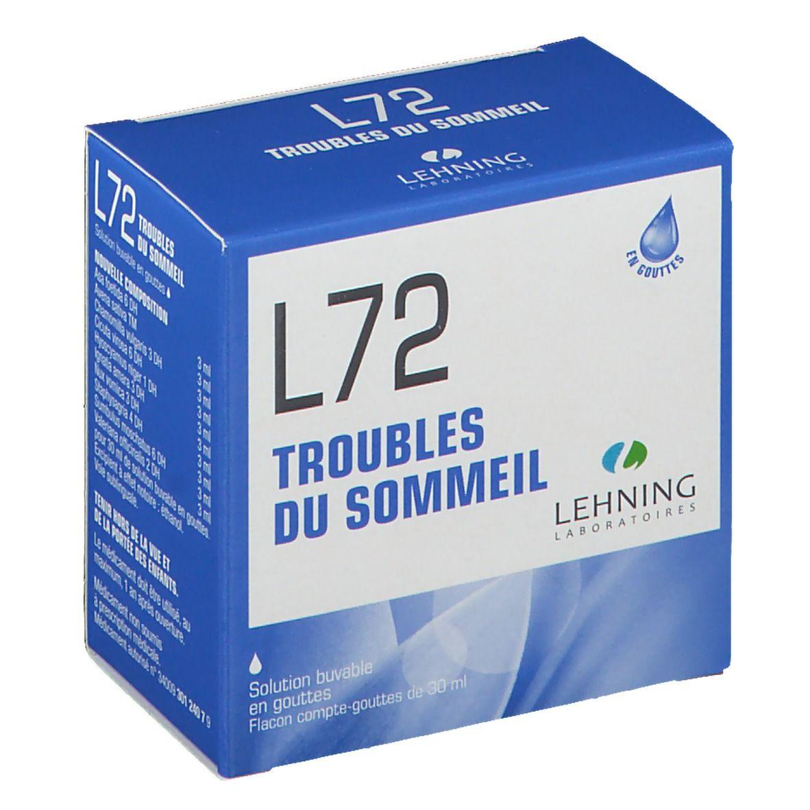 LEHNING L72 Solution buvable en gouttes ml solution(s)