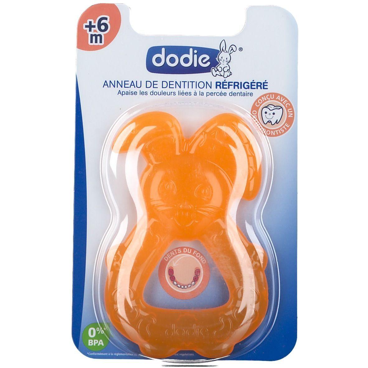 dodie® Anneau de dentition réfrigéré Orange +6 Mois pc(s)