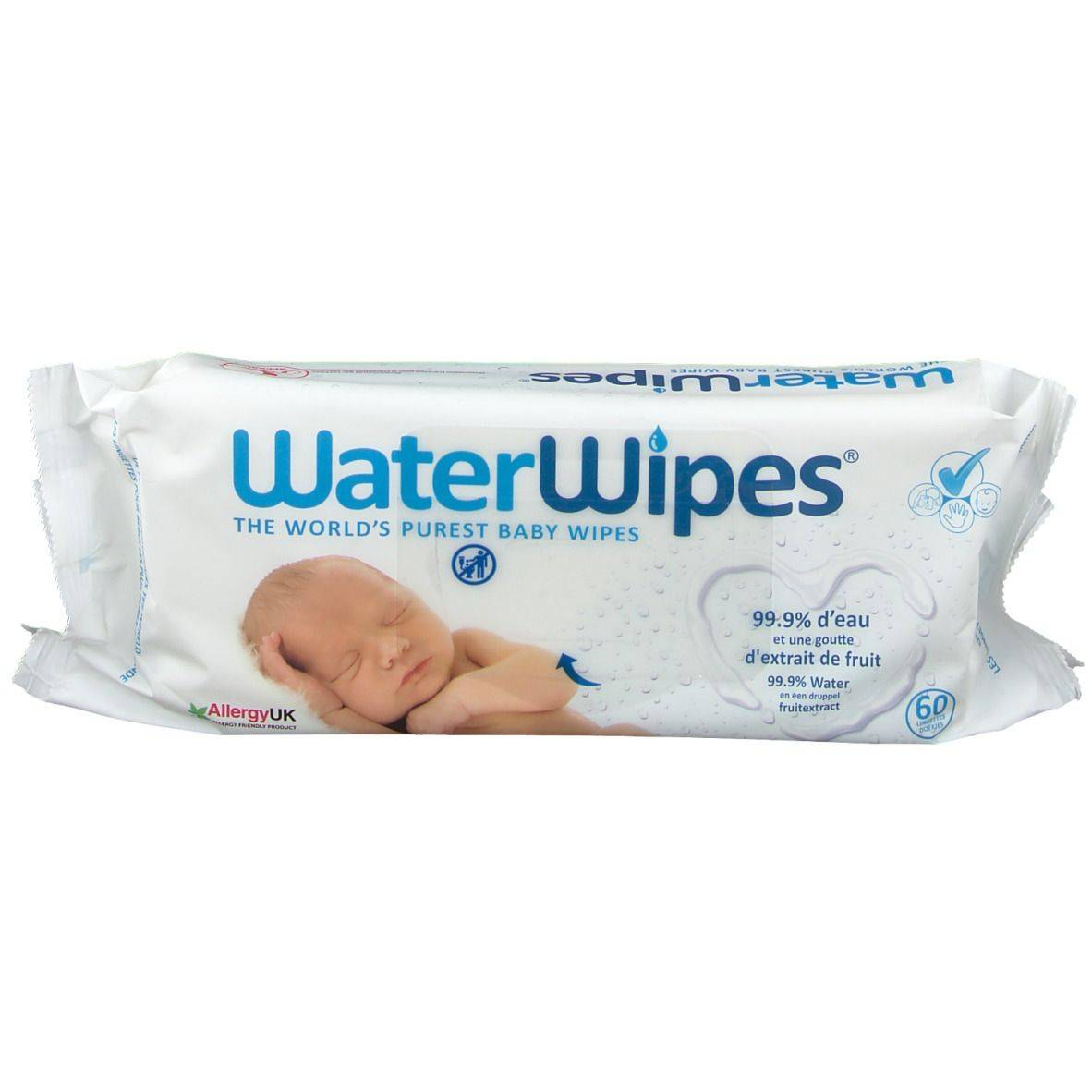 WaterWipes® Lingettes pour bébé les plus pures du monde pc(s) lingette(s)