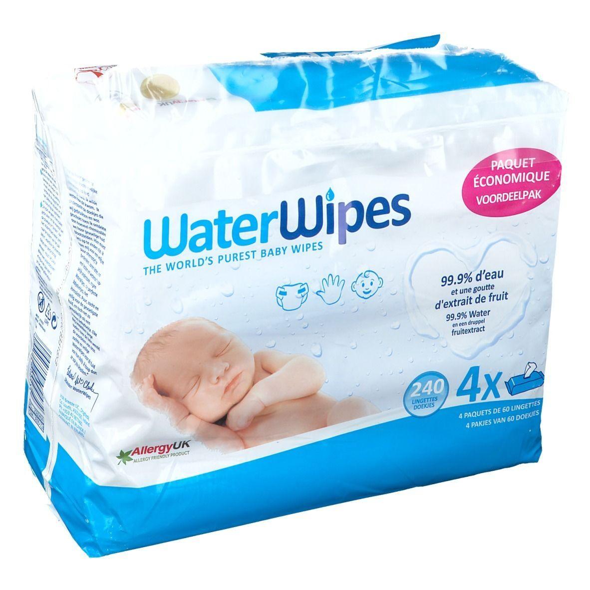 WaterWipes® Les lingettes pour bébé les plus pures du monde pc(s) lingette(s)