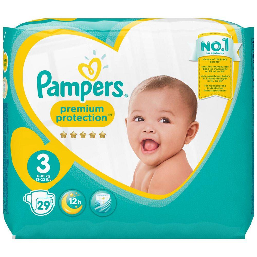 Pampers® Pampers Premium Protection Taille 3, 6-10 kg, Couches pc(s)