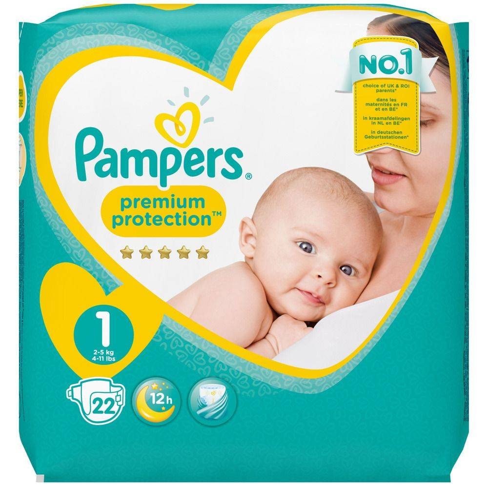 Pampers® Pampers Premium Protection Taille 1, 2-5 kg, Couches pc(s)