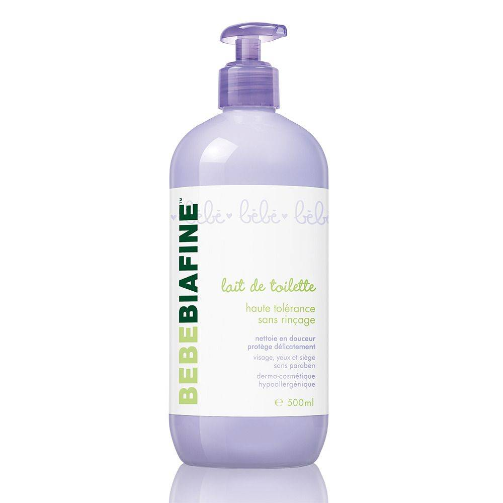 Bebebiafine® Bebe biafine Lait de toilette haute tolérance sans rinçage 500 ml ml lait