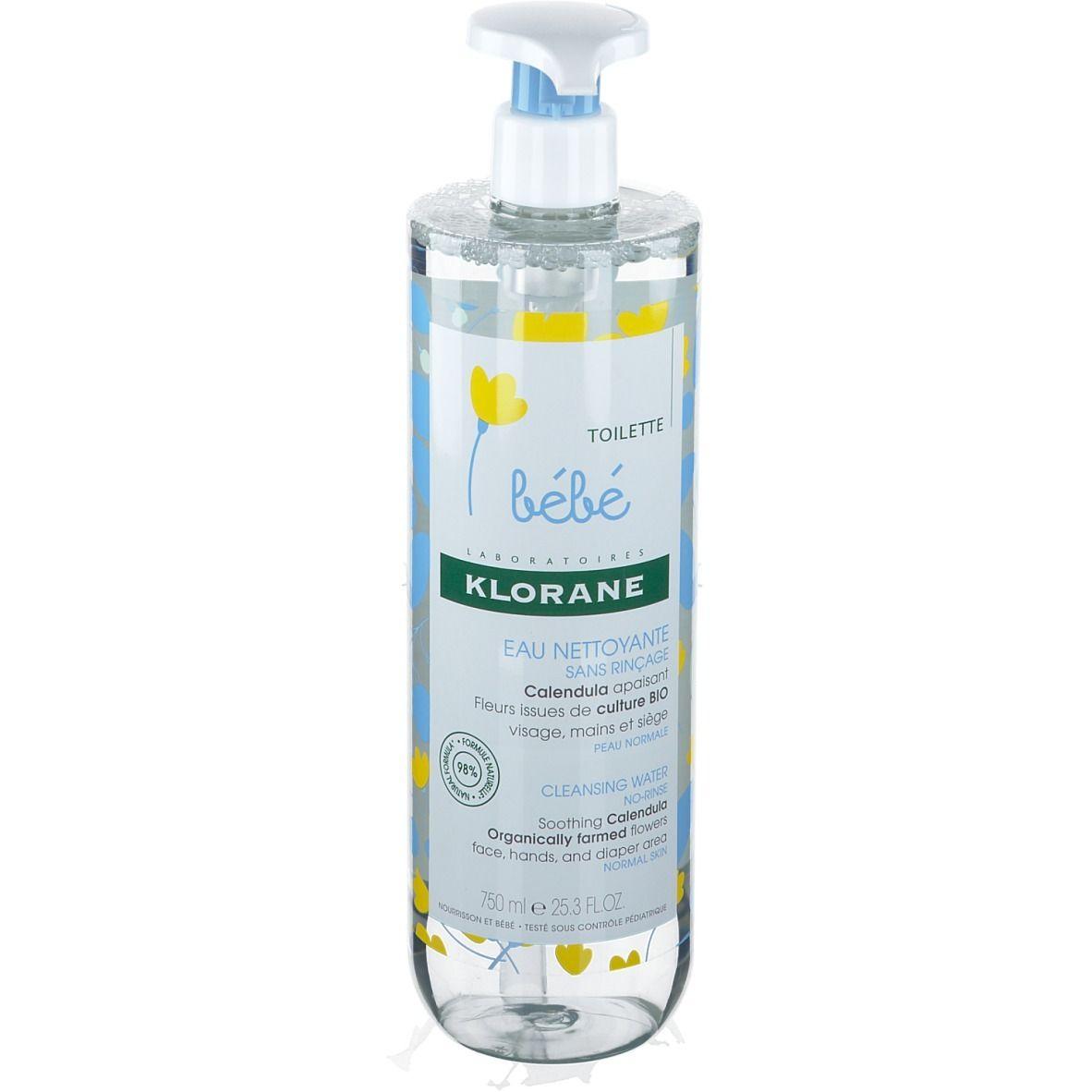 Klorane Bébé Toilette Eau Nettoyante Sans Rinçage au Calendula Bio ml produit(s) démaquillant(s)