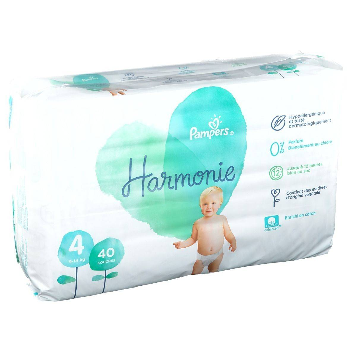 Pampers Harmonie Couches Taille 4, 9-14 kg pc(s) couche(s)