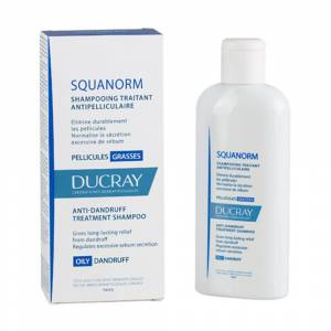 Ducray Squanorm shampoing antipelliculaire pellicules grasses ml shampooing - Publicité