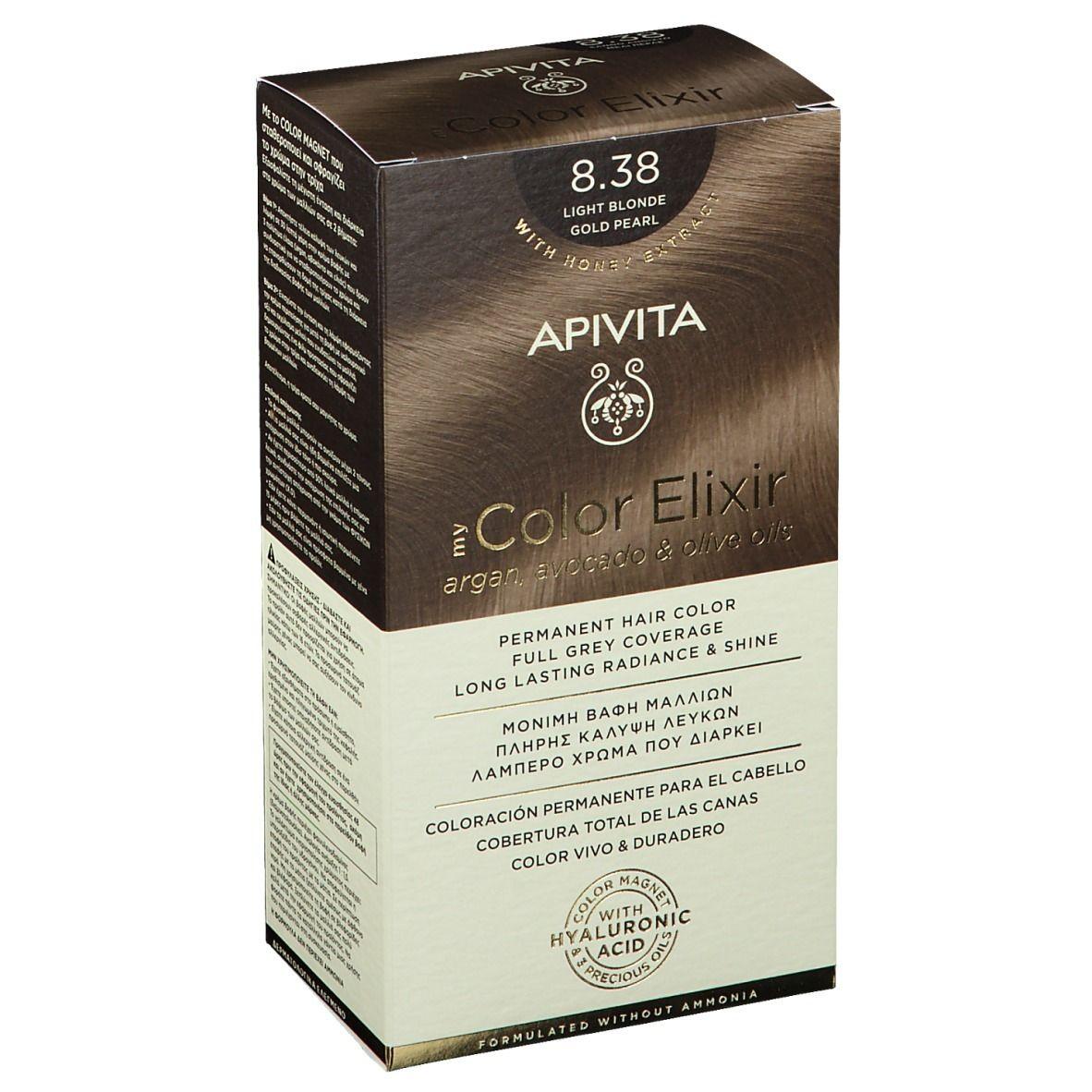 APIVITA My Color Elixir 8.38 Blond claire Gold Pearl pc(s) élixir