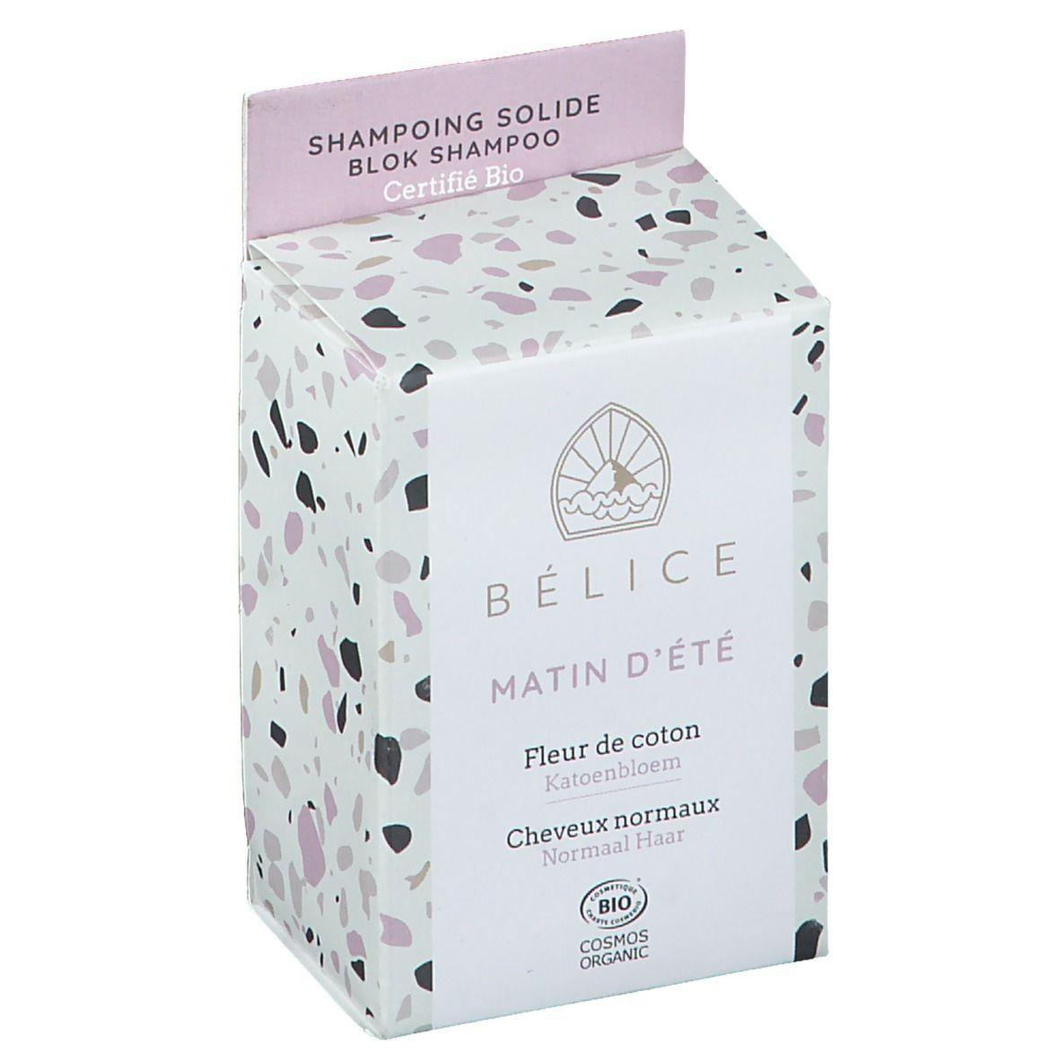 Bélice Shampoing solide Matin d'été Fleur de Coton Bio g shampooing