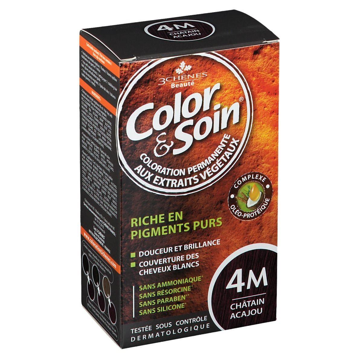 Color&Soin® Les 3 Chênes Color & soin 4M châtain acajou ml crème