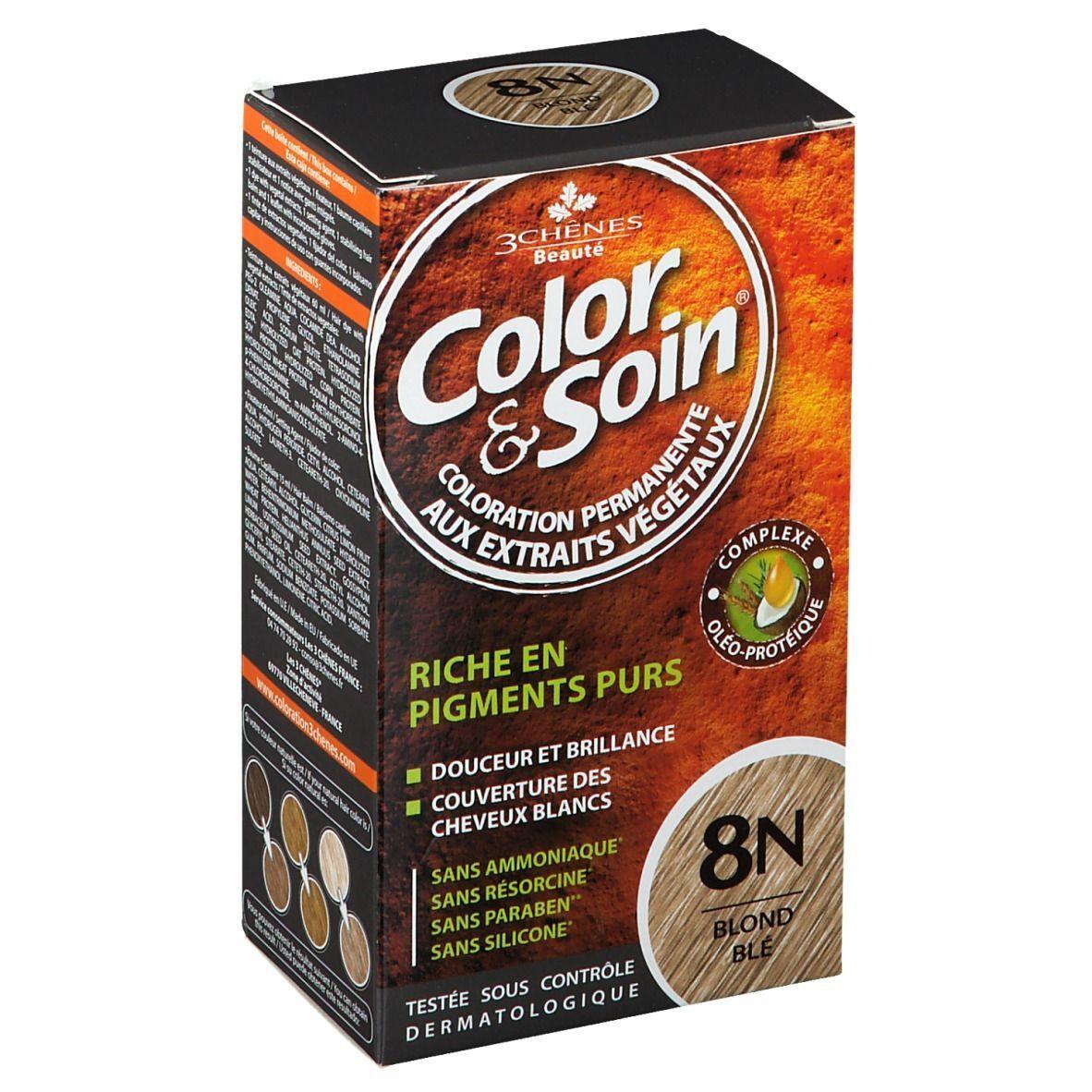 Color&Soin® Les 3 Chênes Color & soin 8N blond blé ml crème