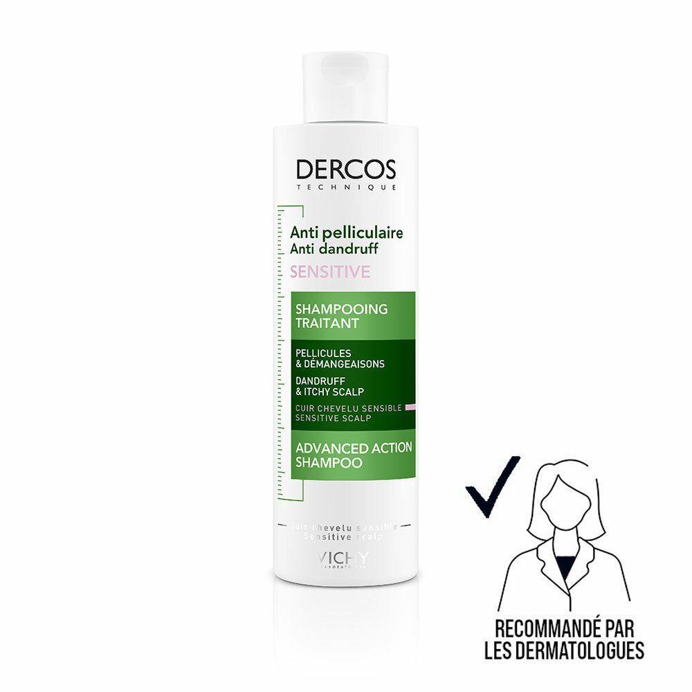 VICHY Dercos Technique Antipelliculaire Sensitive shampooing traitant ml shampooing