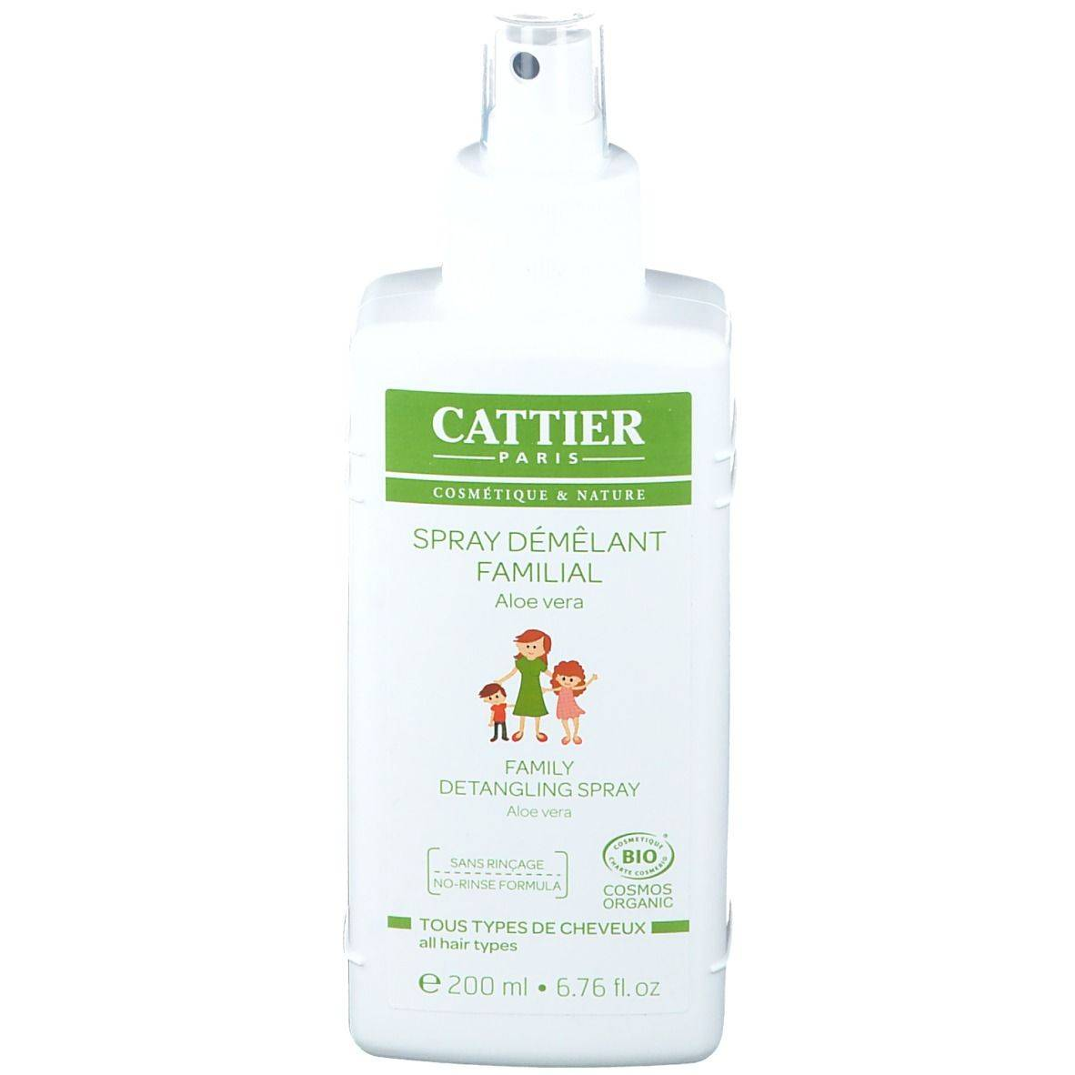 Cattier Spray démêlant familial tous types de cheveux ml spray