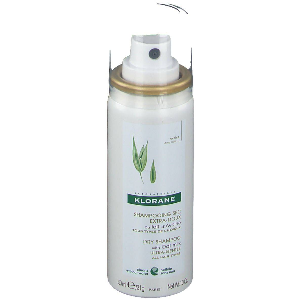 KLORANE Shampooing sec EXTRA-DOUX au lait d'Avoine ml spray
