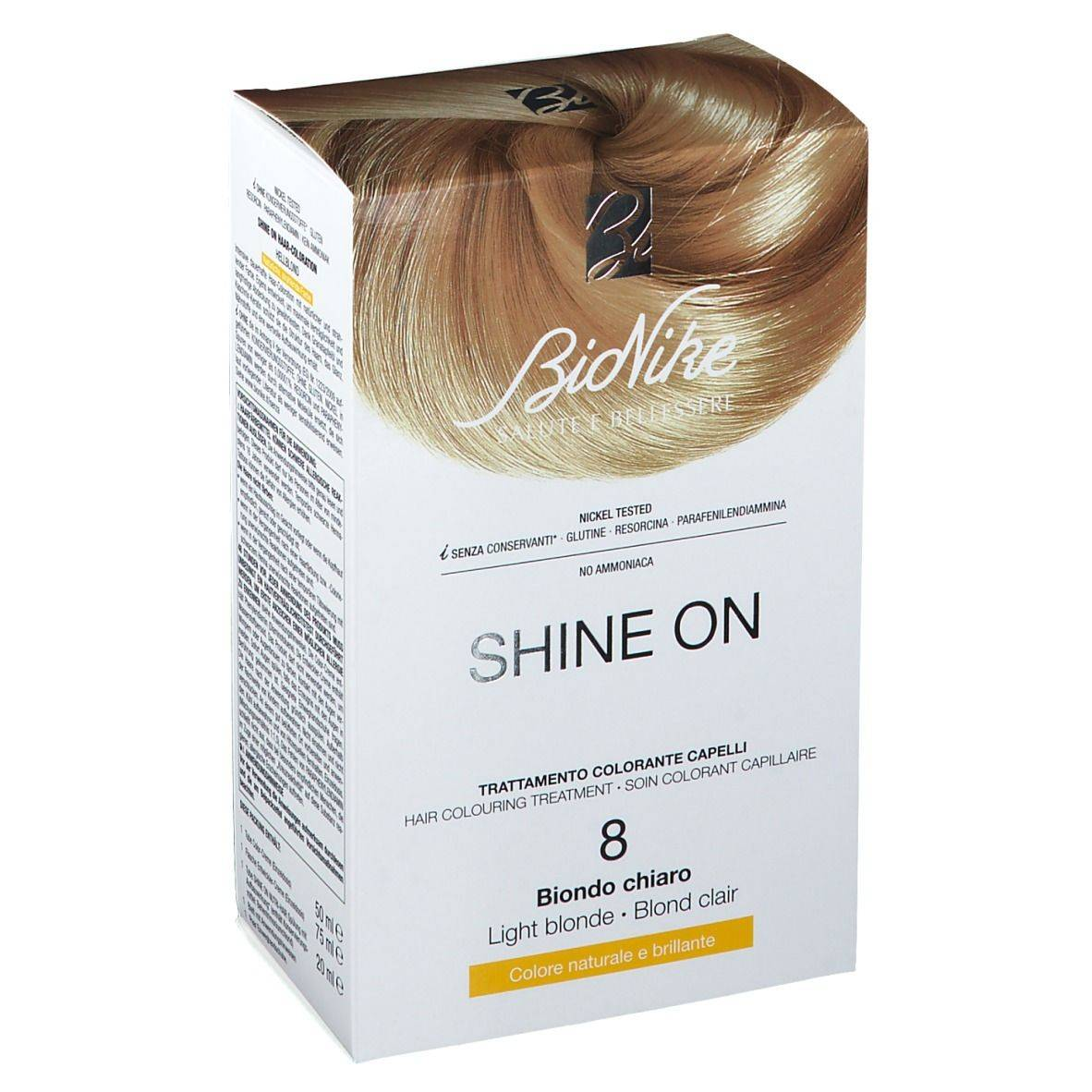 BioNike Shine On Soin colorant capillaire 8 Blond clair pc(s) lotion(s)