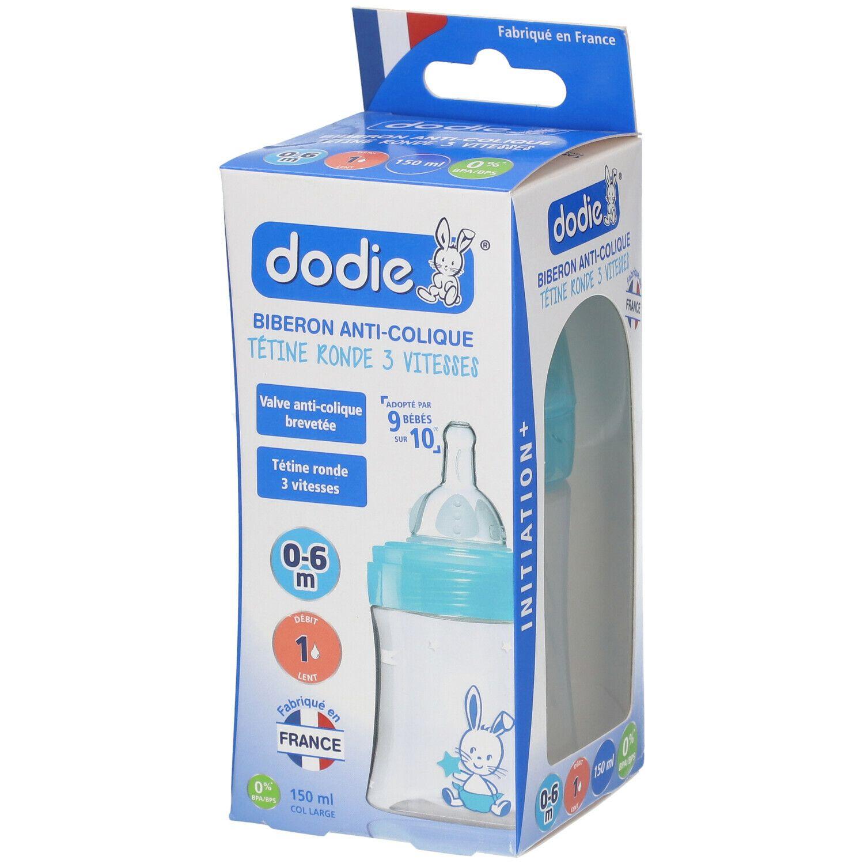 dodie® Initiation+ Biberon Anti-colique 150 ml avec tétine débit 1 décor pc(s) Bouteilles