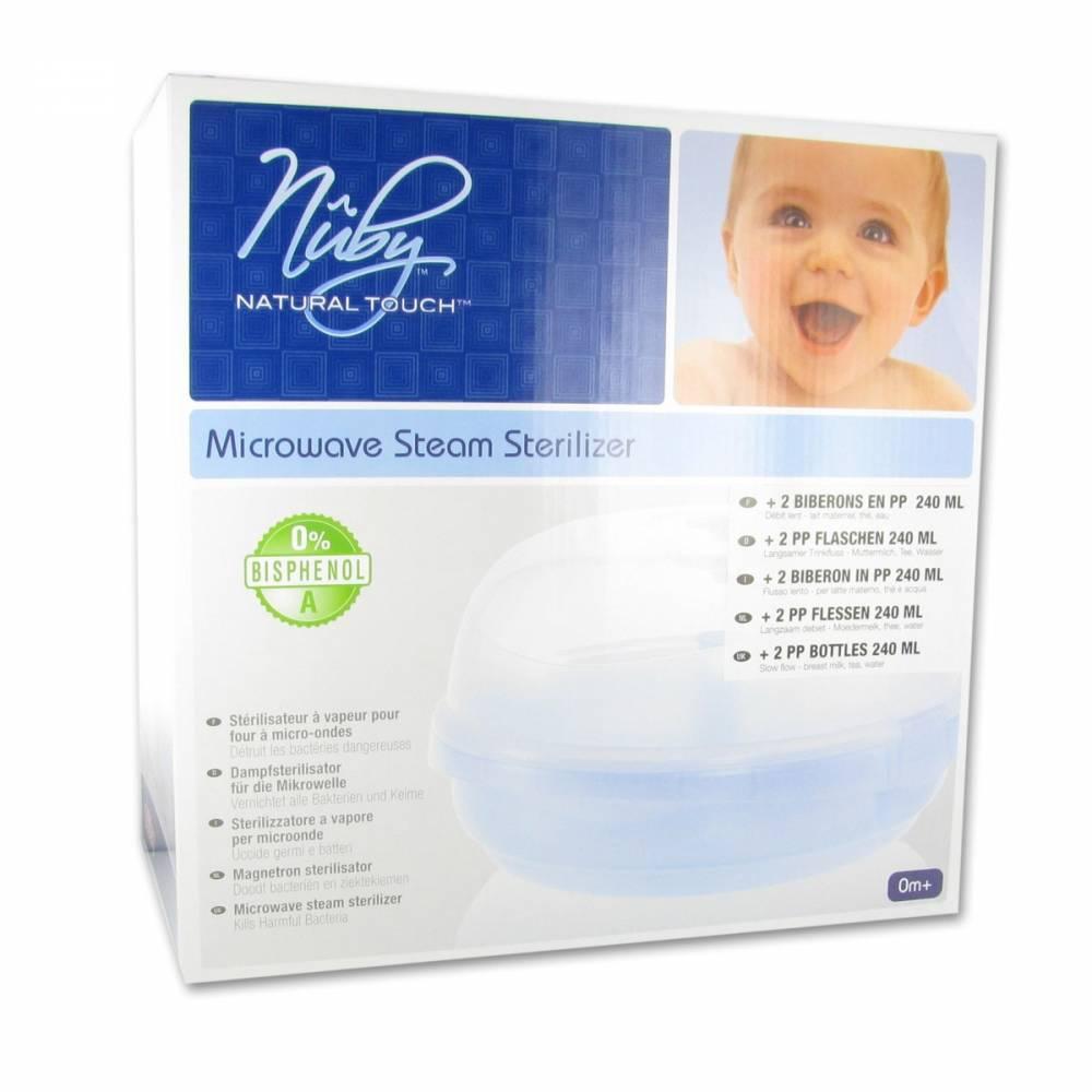 NEWValmar Nuby™ Natural Touch™ Stérilisator + 2 x 240 ml + Tétine pc(s)