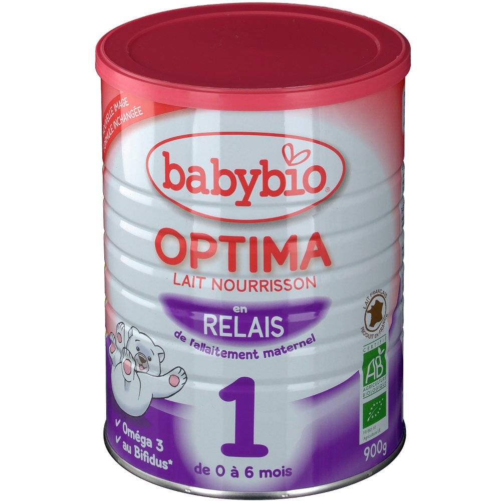 Babybio Optima lait bio 1er âge g poudre