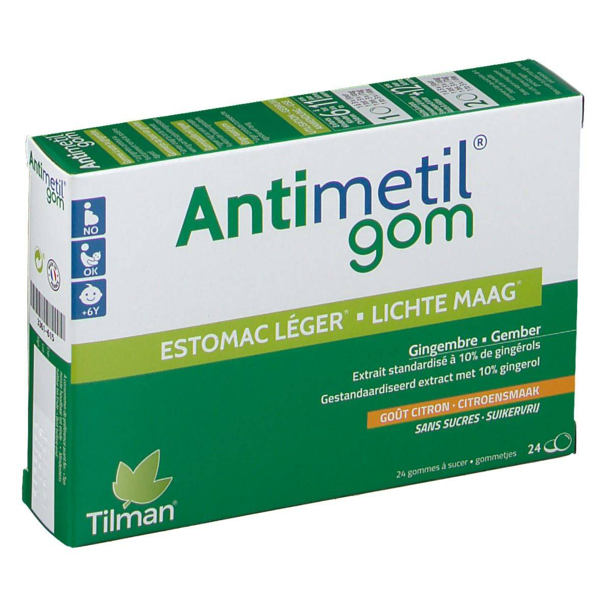 Antimetil® Antimetil Gom pc(s) chewing-gum(s)