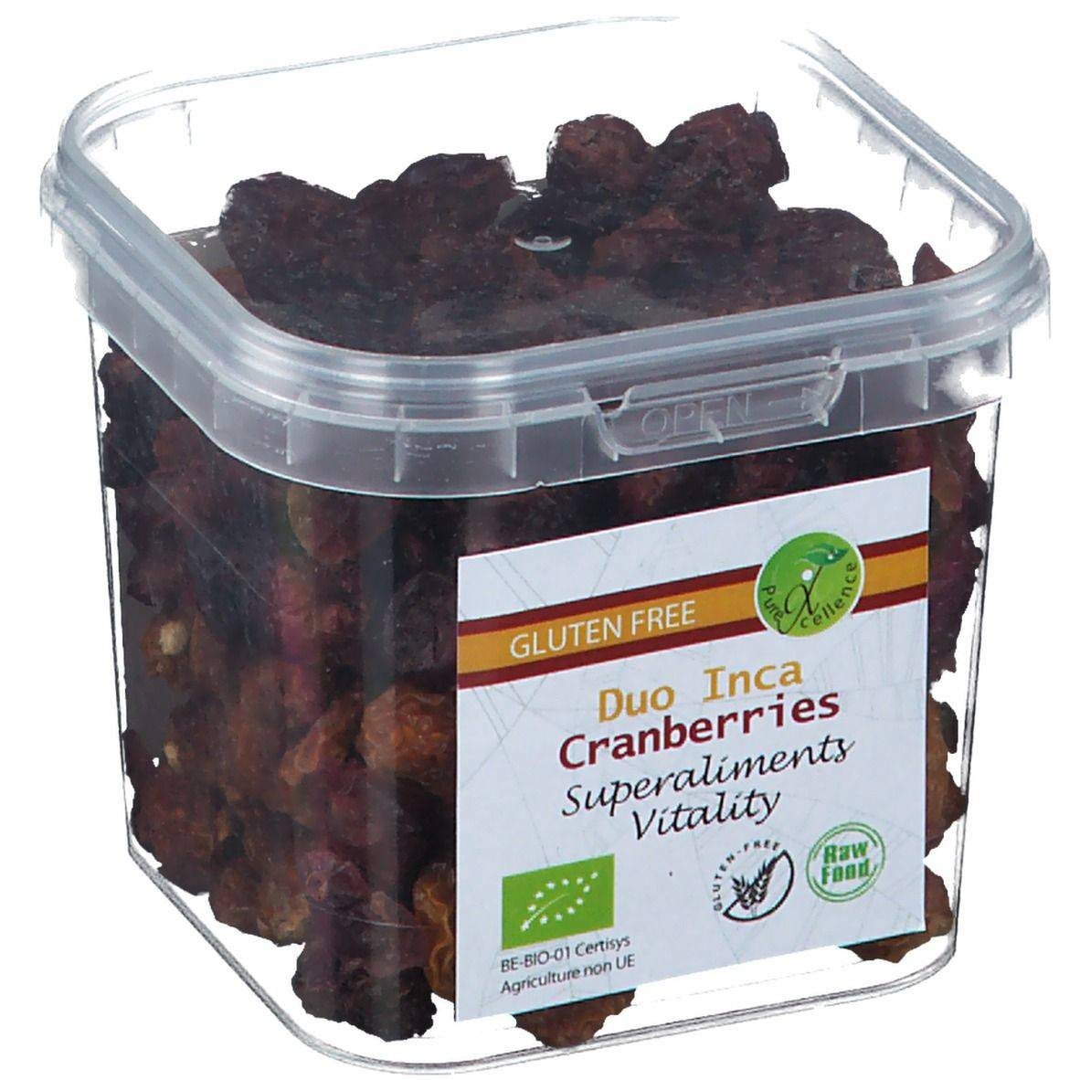 Duo Inca Super Aliments Vitality Canneberges Duo Inca g Fruits