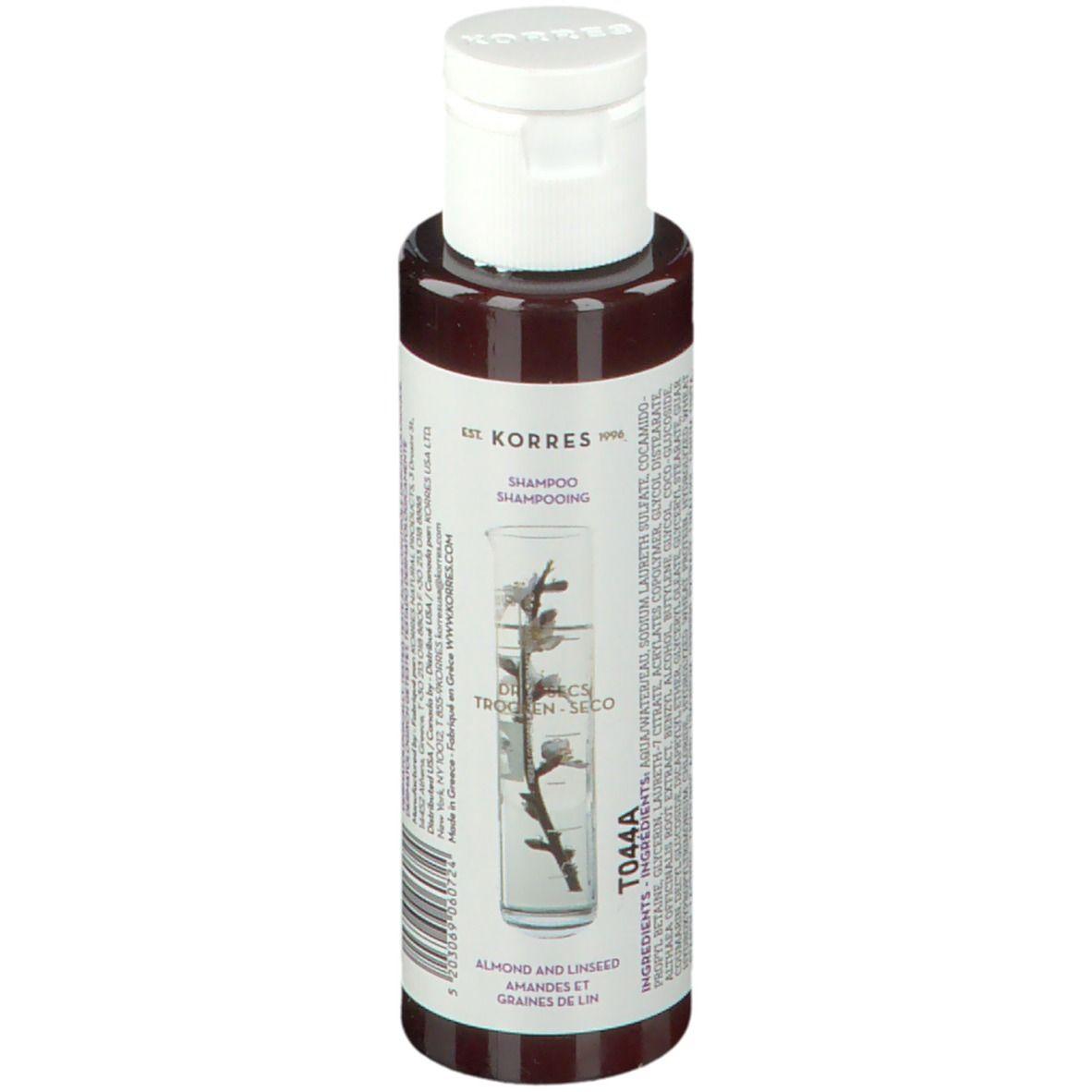 KORRES Shampooing Réparateur Amande et Graines de lin ml shampooing